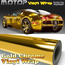 "Gold Chrome 4""x60"" Mirror Vinyl Wrap Film Sticker Decal Air Release Bubble Free"