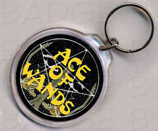 ACE OF WANDS ROUND KEYRING - CLASSIC RETRO COOL!