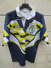 VINTAGE Maillot rugby RC ARLES porté n°7 JICEGA made in France shirt jersey XL