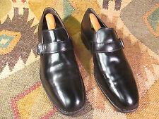 MENS VTG NEWKIRK'S ALDEN??? BLACK LEATHER MONK STRAP LOAFER DRESS SHOES 10 AA