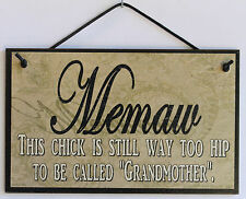 Memaw s Sign Paisley Grandma Hippy Hippie Woodstock 1960 1970 Folk Retro Mom #1