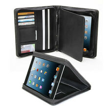 Multi-Purpose Business Portfolio NotePad Velvet Interior Case for iPad 2 3 Air
