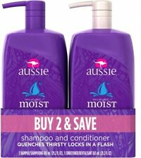 Aussie Mega Moist Shampoo And Conditioner Dual Pack, 2 Pc