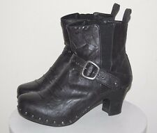 Dansko Studded Black Leather Ankle Boots Size US 8.5 / Euro 39