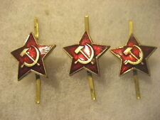 Soviet Army Cap Badge lot of 3 stars