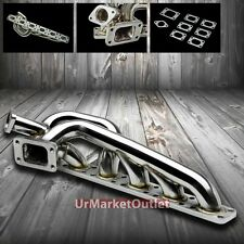 Polish Stainless Steel Turbo Manifold Exhaust For 92-99 BMW E36 3 Series M50/M52