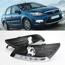 2x LED DRL Driving Daytime Running Day Fog Lamp For Ford Focus Sedan 2007-2011