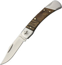 "Sarge SK144BS Boy Scout Folding Knife 3.125"" Closed 2.25"" Clip Blade Maple Wood"