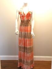 Sky Brand Size M Gorgeous  Maxi Dress Brown And Orange