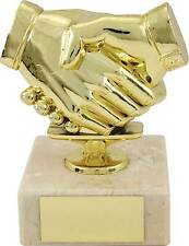 Achievement Trophies Gold Handshake Fair Play Award 4.5 inch FREE Engraving