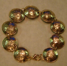 Widows Widow's Mites Mite BRACELET on Modern Israel 5 Agorot Coins DOMED JEWELRY