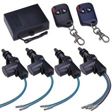 Universal Car Door Power Central Lock Kit Auto Vehicle Remote Control Keyless UK