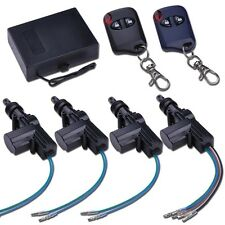 Universal 2/4 Door Power Central Lock Kit Auto Vehicle Remote Control Keyless