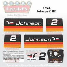 1974 Johnson 2 HP Sea Horse Outboard Reproduction 9Pc Marine Vinyl Decals 2R74