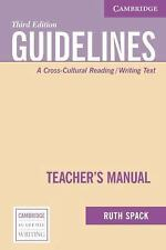 Guidelines Teacher's Manual: A Cross-Cultural Reading/Writing Text