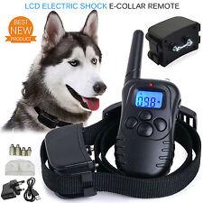 Elettrocuzione DOG E-Collar formazione controller remoto anti-bark UK ricaricabile