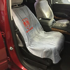 "Dodge Ram Car Seat Towel Slip-On Cotton Terry Cloth Grey Seat Cover. 47"" X 24"""