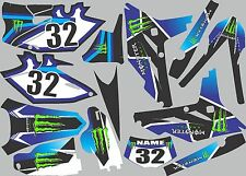 Graphics for 2012-2015 Yamaha WRF450 WRF 450 WR450f Decal  shrouds stickers