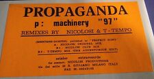 "Propaganda-p: Machinery 97 12"" Mix EX Remixed by Nicolosi & T-Tempo White Label"