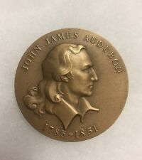 John Audubon Hall of Fame for Great Americans collectors bronze medallion