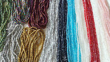Joblot of 24 strings 12 colours 6mm Round shape Crystal beads new wholesale