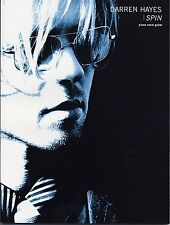 """DARREN HAYES-SPIN"" PIANO/VOCAL/GUITAR MUSIC BOOK BRAND NEW ON SALE SONGBOOK!!"