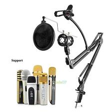 Microphone Suspension Boom Scissor Arm stand w/Shock Mount For Broadcast Studio