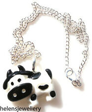 GORGEOUS HANDMADE MOO MOO COW NECKLACE + FREE GIFT BAG