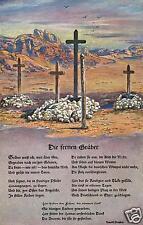 3111/ Künstler AK, Deutsche Soldatengräber in Südwest Afrika