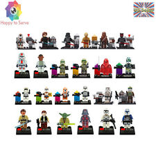 NEW 24 PCS Minifigs STAR WARS Clone Troopers C-3PO Darth Chewbacca Building Toys