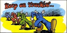 1970s R CRUMB Keep on Truckin' poster replica magnet - new!