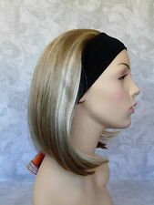 Short Straight Blonde Highlighted Bob Synthetic HEADBAND Wig - #52