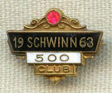 Vintage 1963 Schwinn 500 Bicycles Sold Shop / Salesman Lapel Pin Award