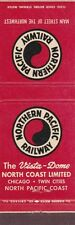 NORTHERN PACIFIC RAILWAY MATCHBOOK COVER.