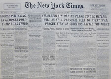 9-1938 September 15 TOKYO CZECH STAND ALARMS SHANGHAI. FRENCH HOPES RISE ON MOVE