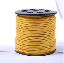 10 METERS YELLOW COLOUR SUEDE LEATHER CORD