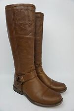 Frye Women's Phillip Harness Tall Washed Cognac Soft Leather Boots Size 7.5 $358