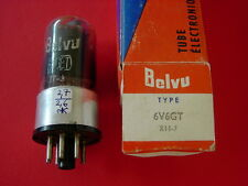 1 Tube 6v6 GT 6V6GT US branded BELVU scarce metal base-collar early version NOS