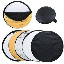 "5-in-1 24""  Collapsible Light Photography Reflector for studio or outdoor( 60cm)"