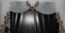 Deko - Gardine, Store, Vorhang in der Farbe nougat / weiss