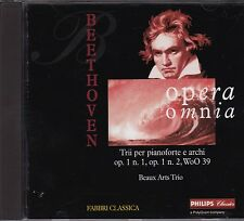 BEETHOVEN Trii con pianoforte op. 1 n. 1, op. 1 n. 2, WoO 39 BEAUX ARTS TRIO