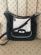 Coach Leather Kristin  Crossbody or shoulder bag Black/Gray/cream Authentic