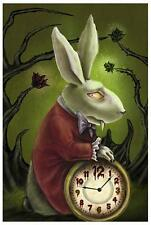 Levin's White Rabbit by Diana Levin Fine Art Print Gothic Alice in Wonderland