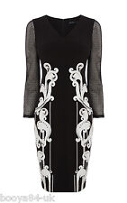 NEW + KAREN MILLEN + SIGNATURE ARTWORK DRESS + SIZE + UK 8