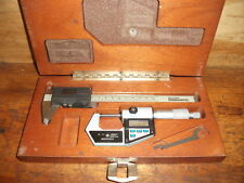 MITUTOYO DIGIMATIC  DIGITAL CALIPER AND MICROMETER SET WITH CASE