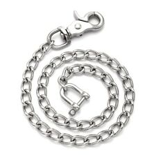 Stainless Steel Twisted Cable Wallet Chain