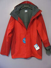 Columbia Eager Air Interchange 3 in 1 Red Waterproof Coat Jacket $220~ Sz L~NWT