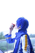 Cosplay Show Hair Vocaloid Kaito Dark Blue Short  Layered Stylish Anime Wig+Cap