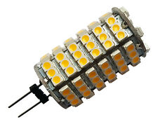 4 x G4 7W 118 SMD LED 5050 12V DC 580LM WARM WHITE (3000K) BULBS ~45W