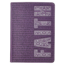 Journal Faith Purple, Faux-Leather By Christian Art Gifts